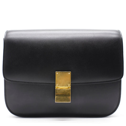 Celine Medium Classic Box Bag Black