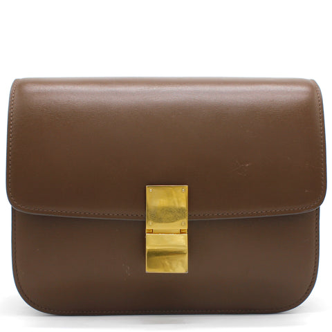 Medium Classic Box Bag Brown
