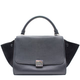 Celine Textured Calfskin and Suede Medium Trapeze Luggage Tri-Color Vermillio