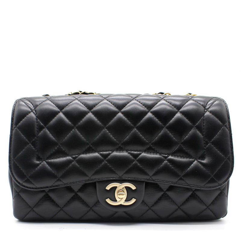 Chanel Lambskin Quilted Medium Mademoiselle Chic Flap Black