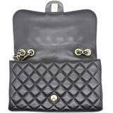 Lambskin Quilted Medium Mademoiselle Chic Flap Black