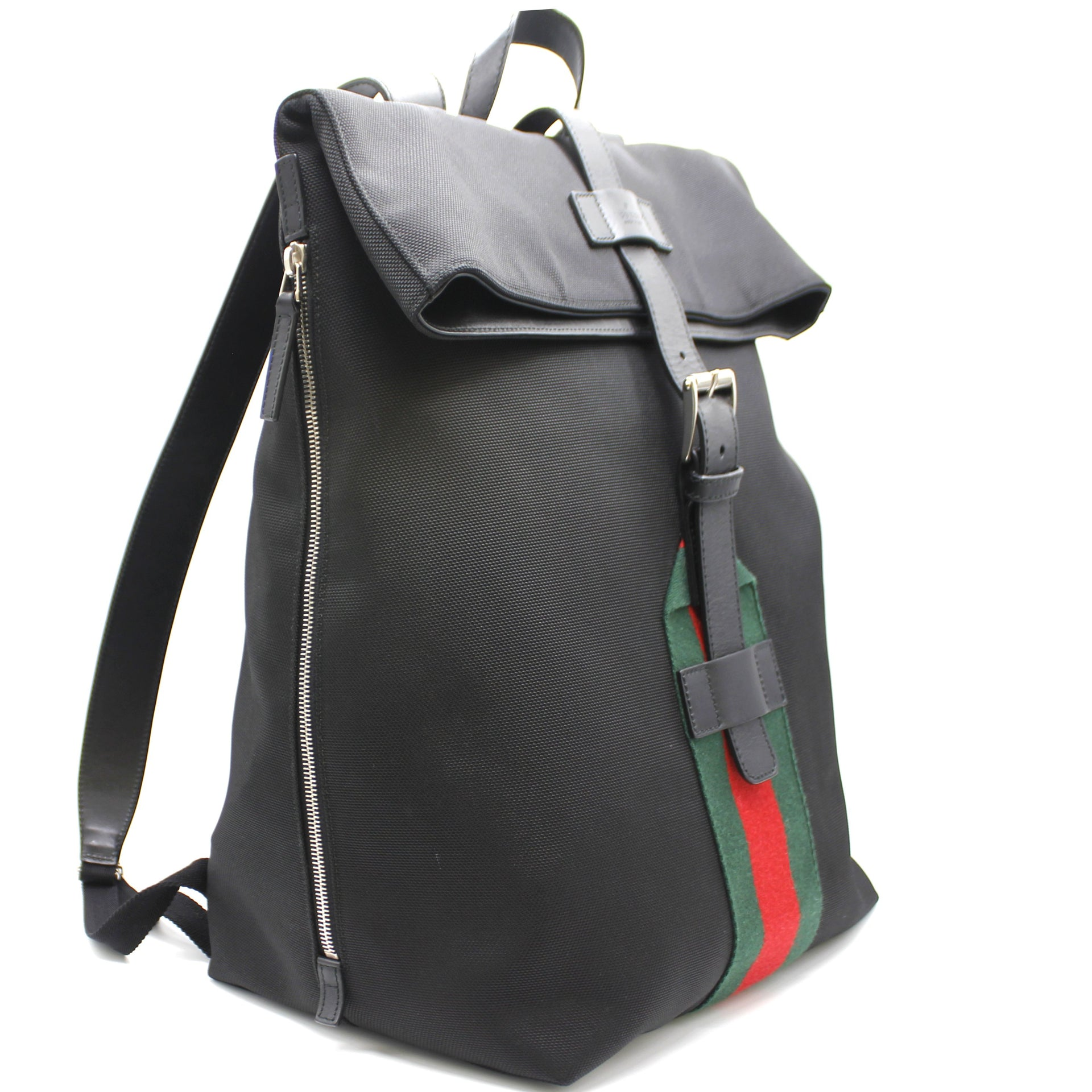 Gucci Techno Canvas Web Backpack Black