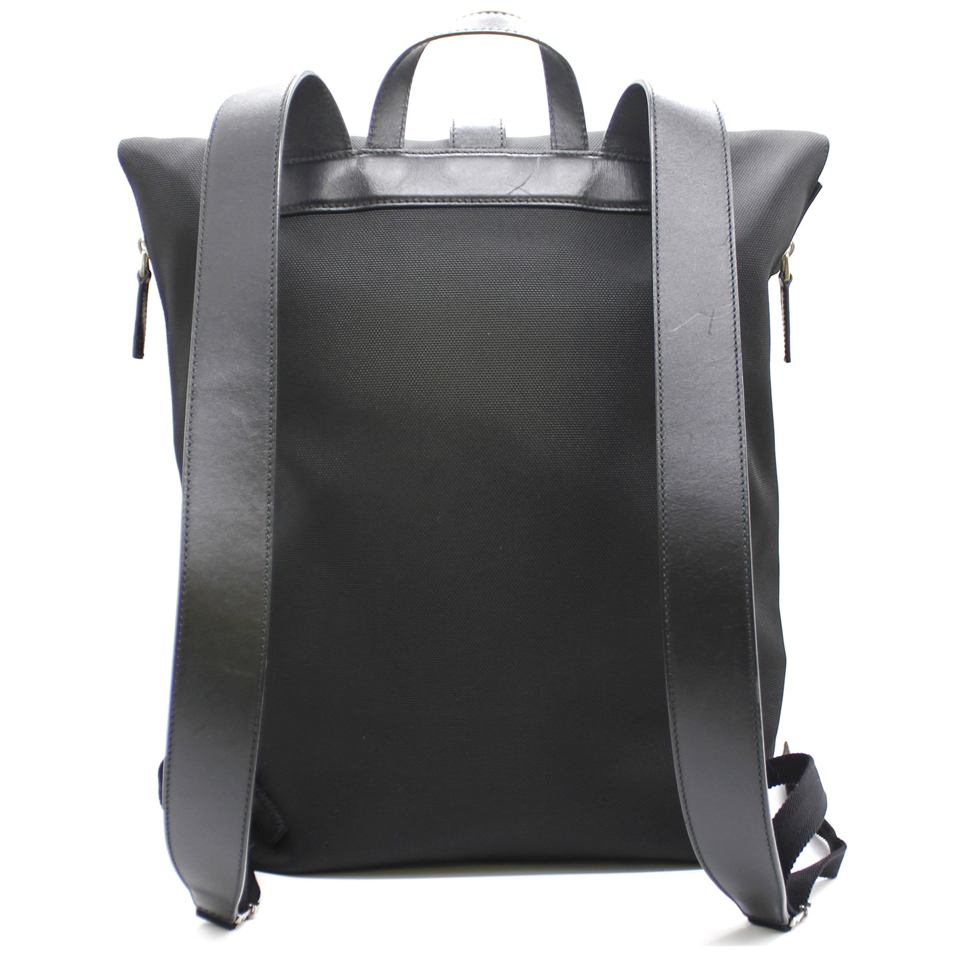 Techno Canvas Web Backpack Black
