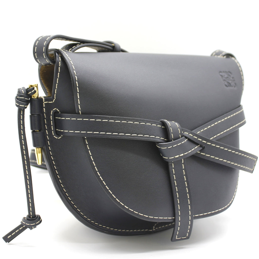 Loewe Grained Calfskin Small Gate Crossbody Bag Navy