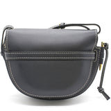 Grained Calfskin Small Gate Crossbody Bag Navy