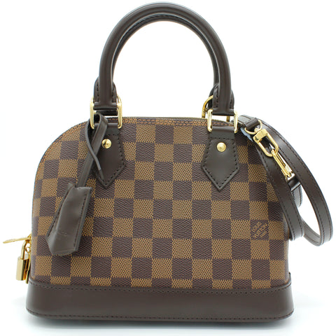 Louis Vuitton Alma BB Damier Ebène Canvas