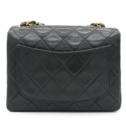 Chanel Vintage Lambskin Mini Square Flap Black