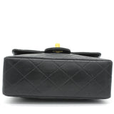 Vintage Lambskin Mini Square Flap Black