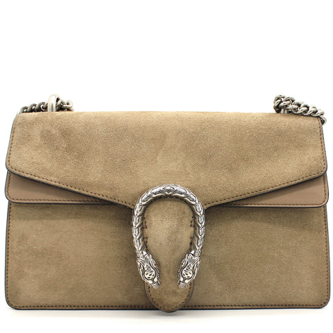 Suede Small Dionysus Shoulder Bag Brown