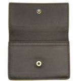 Espresso Intrecciato Nappa Card Case Dark Brown
