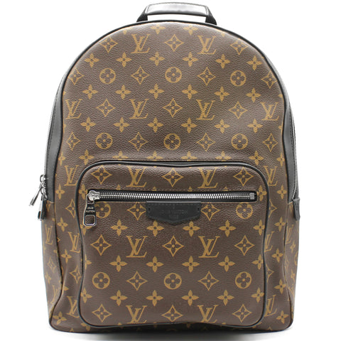 Josh Monogram Macassar Canvas Backpack