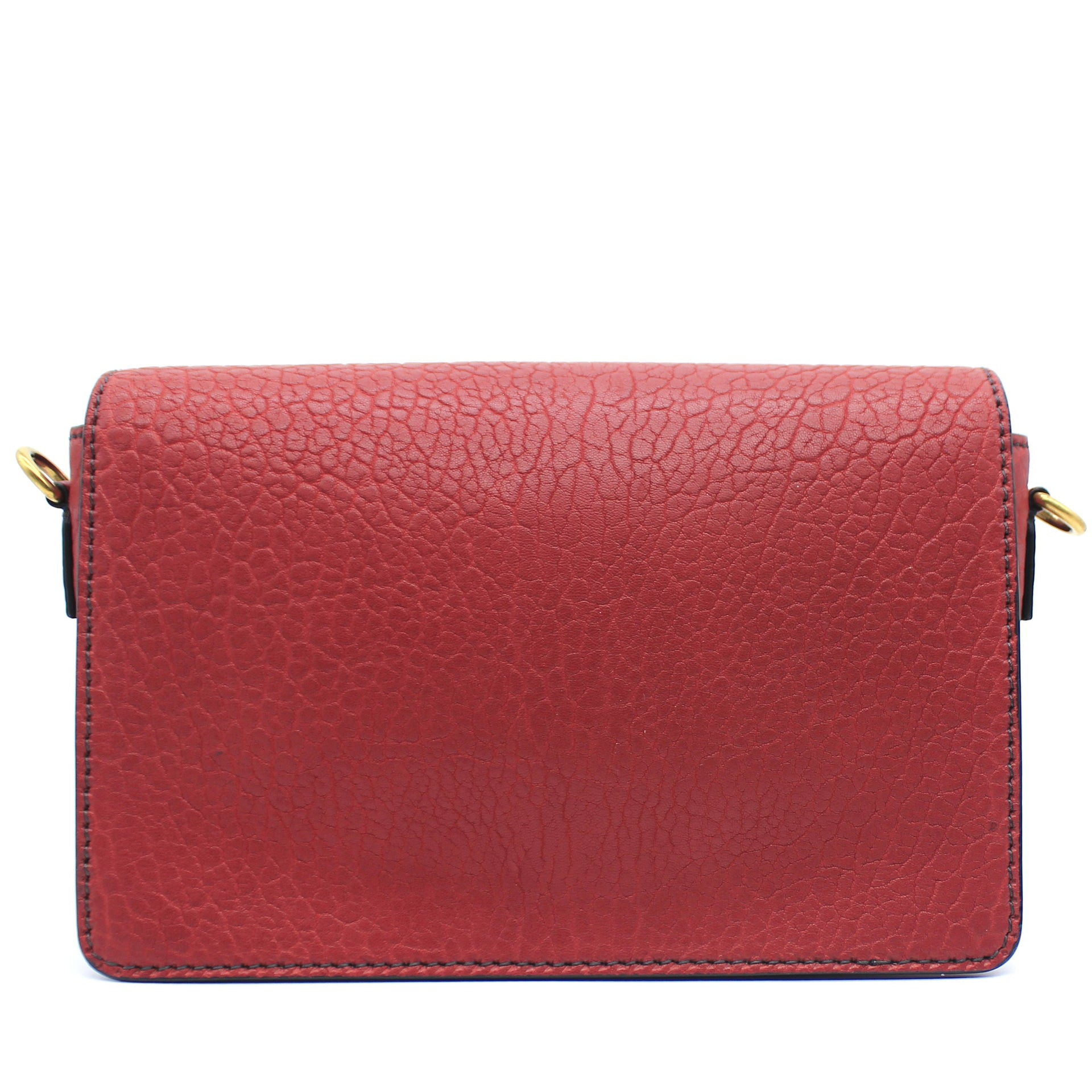 Grained Calfskin J'Adior Flap Bag Red