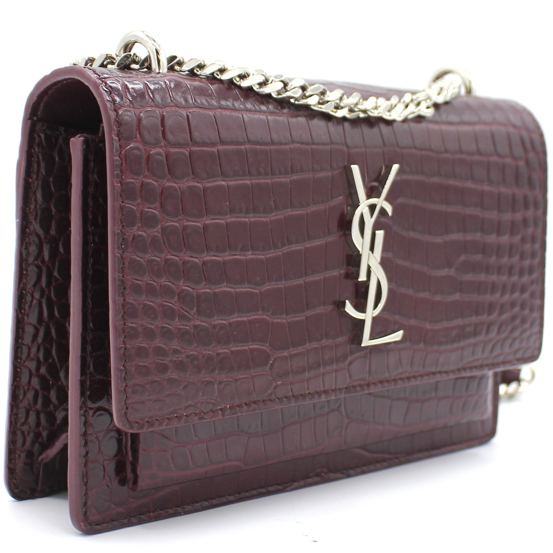 Sunset Monogram Leather Chain Wallet