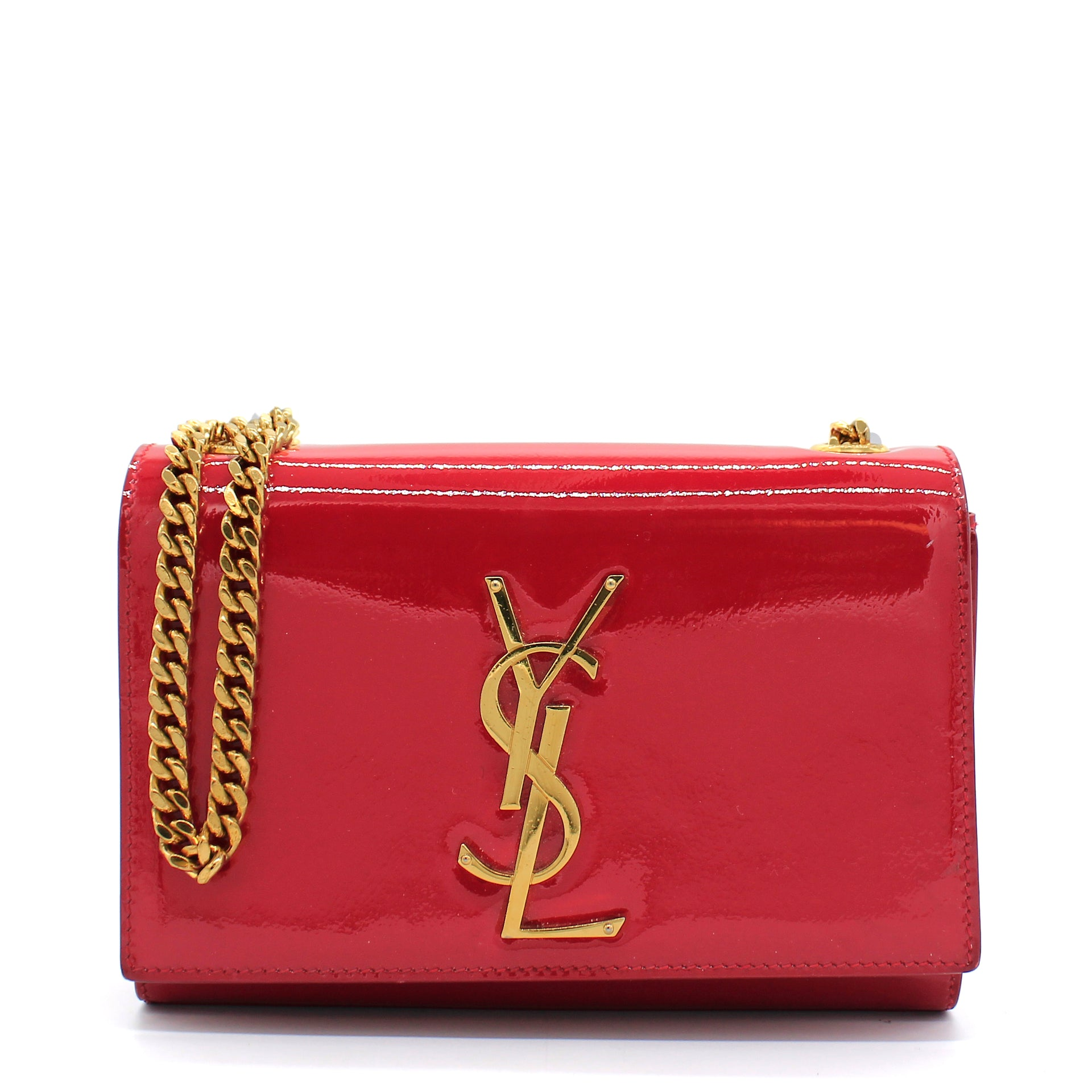 Small Kate Bag in Red Patent Leather