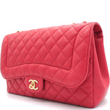 Lambskin Quilted Mademoiselle Chic Flap Jumbo Red