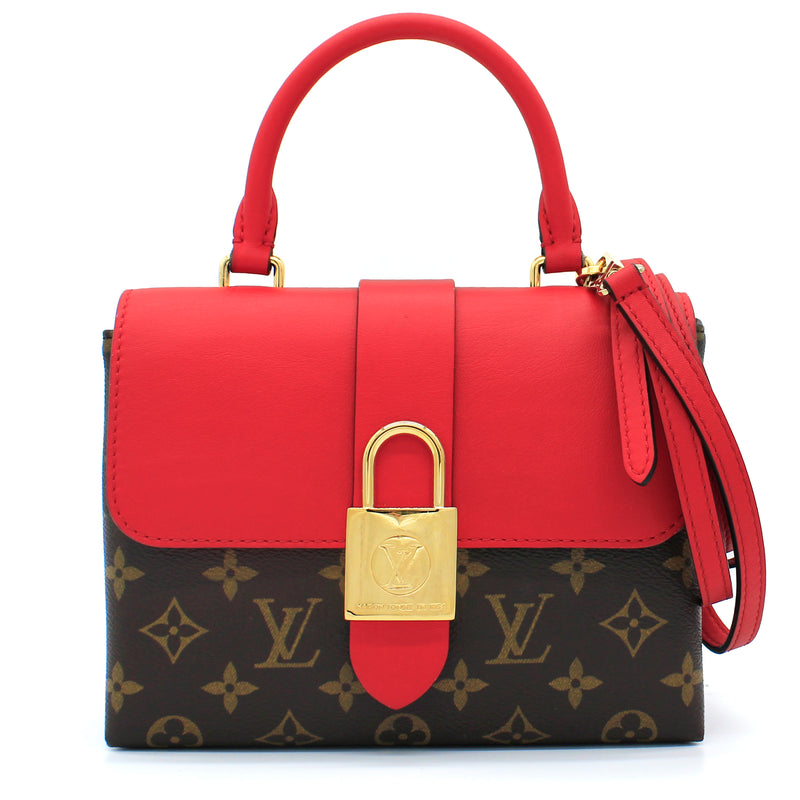 Locky BB Monogram and Red Leather