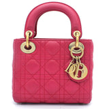 Mini Lady Dior Bag in Fushia Lambskin