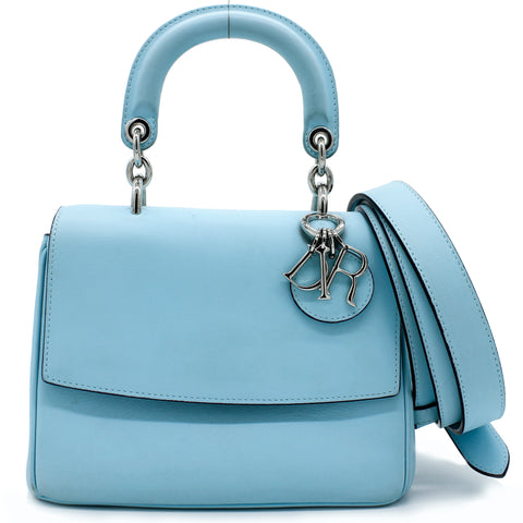 Smooth Calfskin Small Be Dior Flap Blue