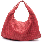 Nappa Intrecciato Large Belly Veneta Hobo Red