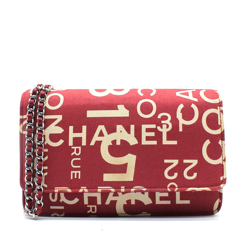 31 Rue Cambon Wallet on Chain Printed Canvas