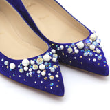 Candidate 100 embellished suede pumps