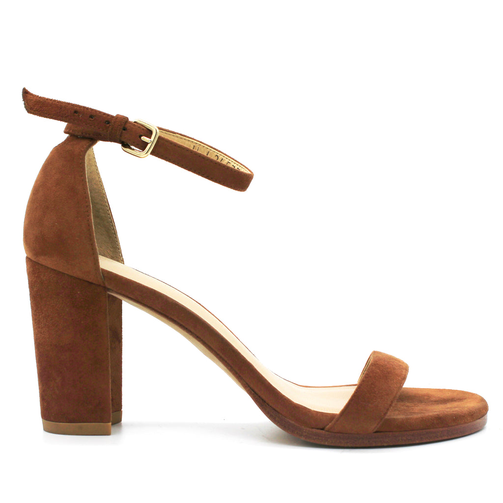 NearlyNude suede sandals