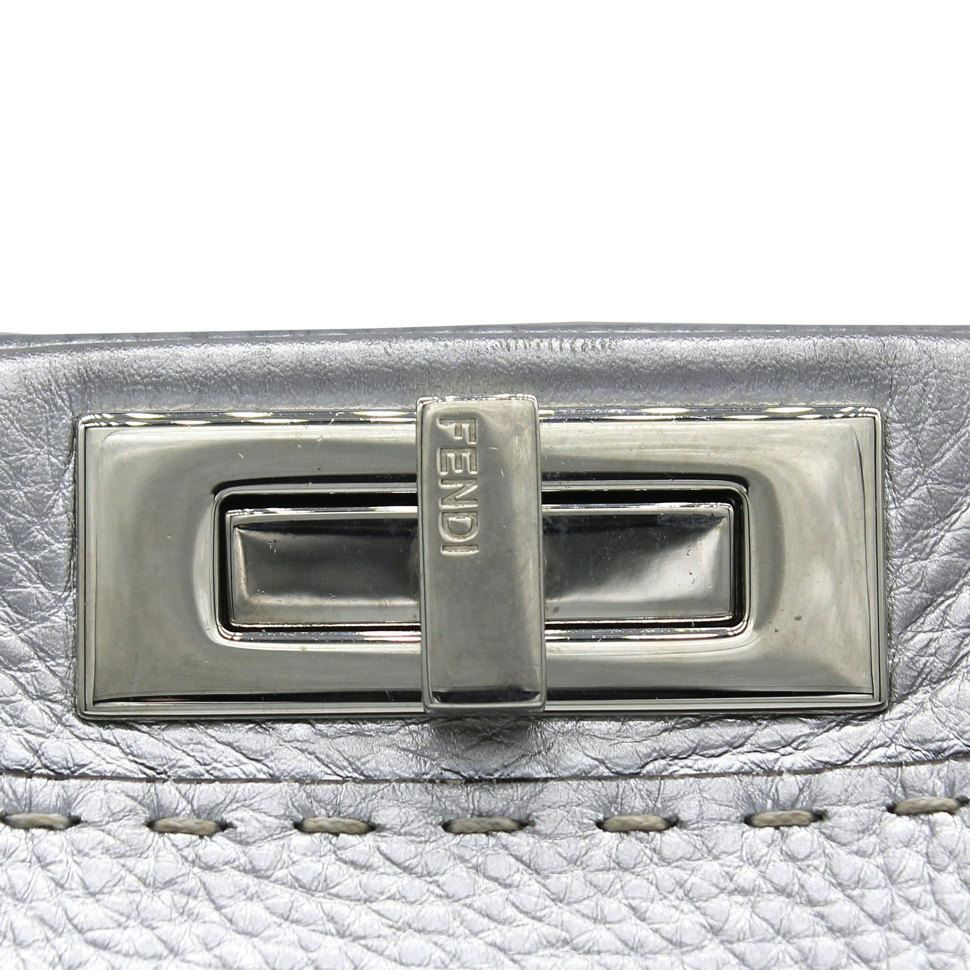 Metallic Calfskin Romano Medium Selleria Peekaboo