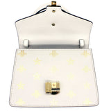 Sylvie Bee Star mini leather bag White