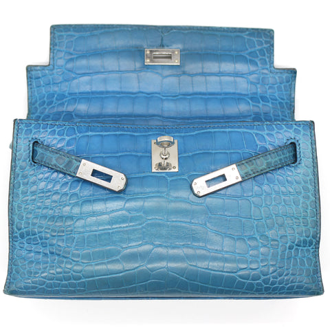 Crocodile Mini Kelly Pochette Clutch