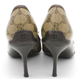Beige/Ebony GG Canvas Bow Pumps