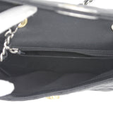 Black Calfskin Mini Flap Bag with Round CC Turn Lock