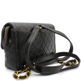 Black lambskin Vintage Backpack