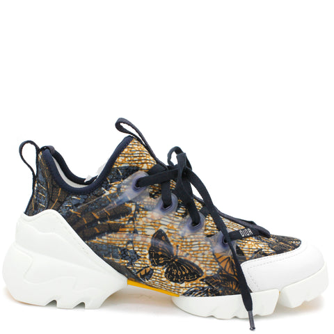 Multicolor Tropicalia Print Technical Fabric D-Connect Platform Sneakers