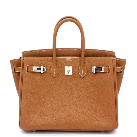 Birkin 25 tote bag Togo Gold
