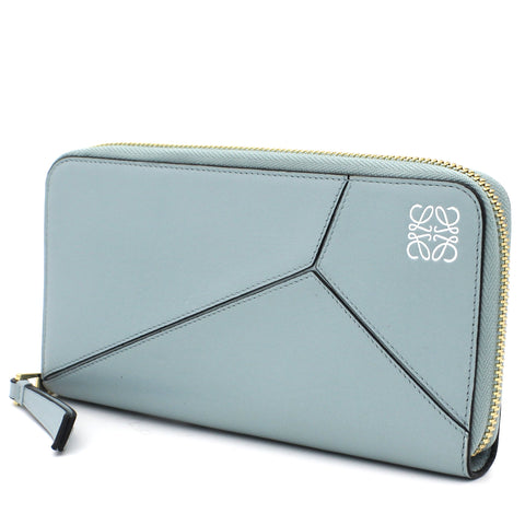 Puzzle Long Zip Around Wallet
