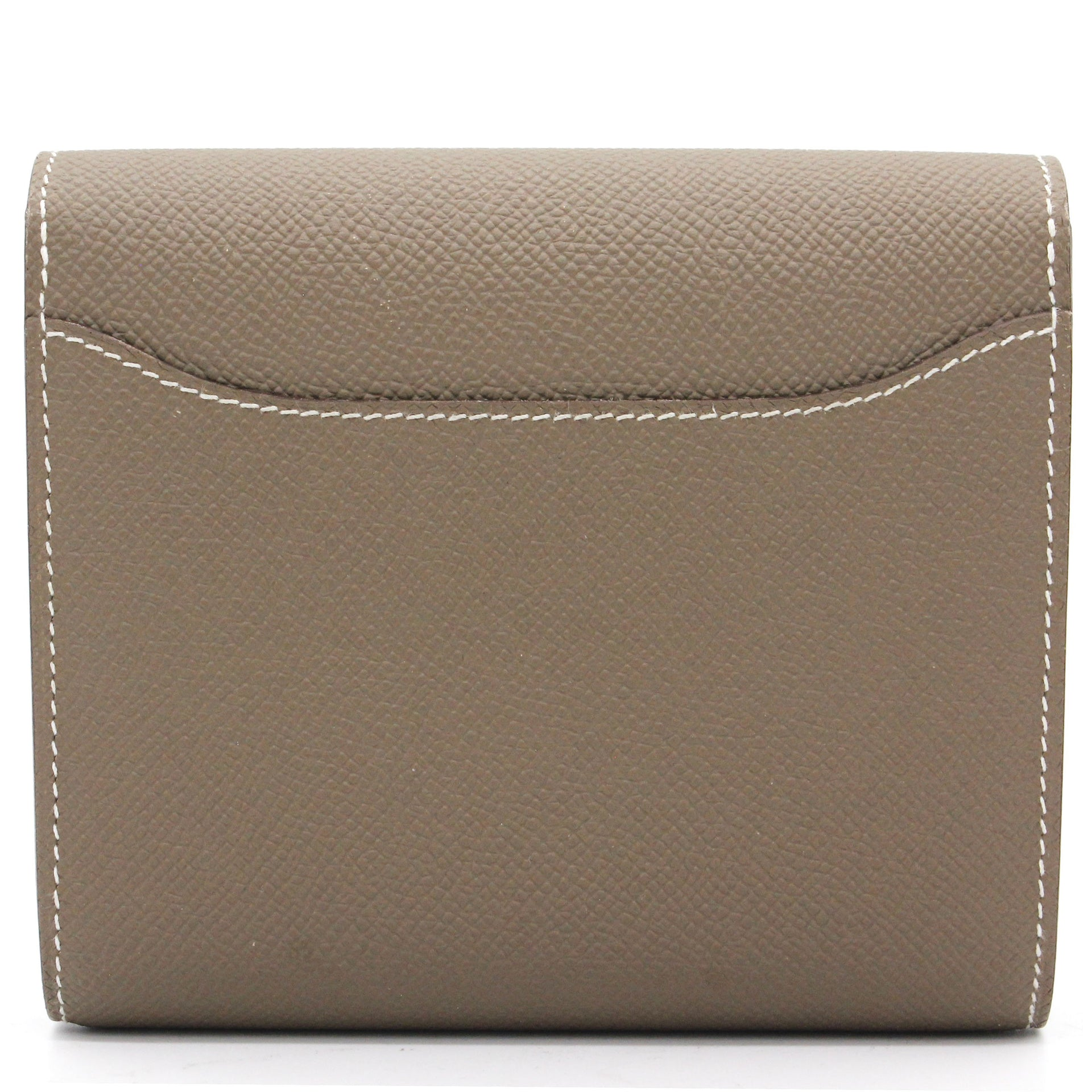 Epsom Leather Gold Constance Wallet Etoupe