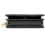 Patent Cannage Lady Dior Mini Wallet Black