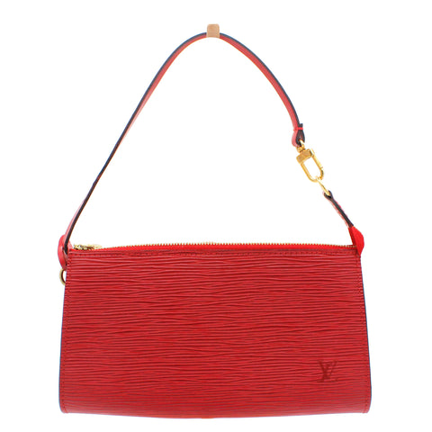 Epi Pochette Accessories 21 Castilian Red