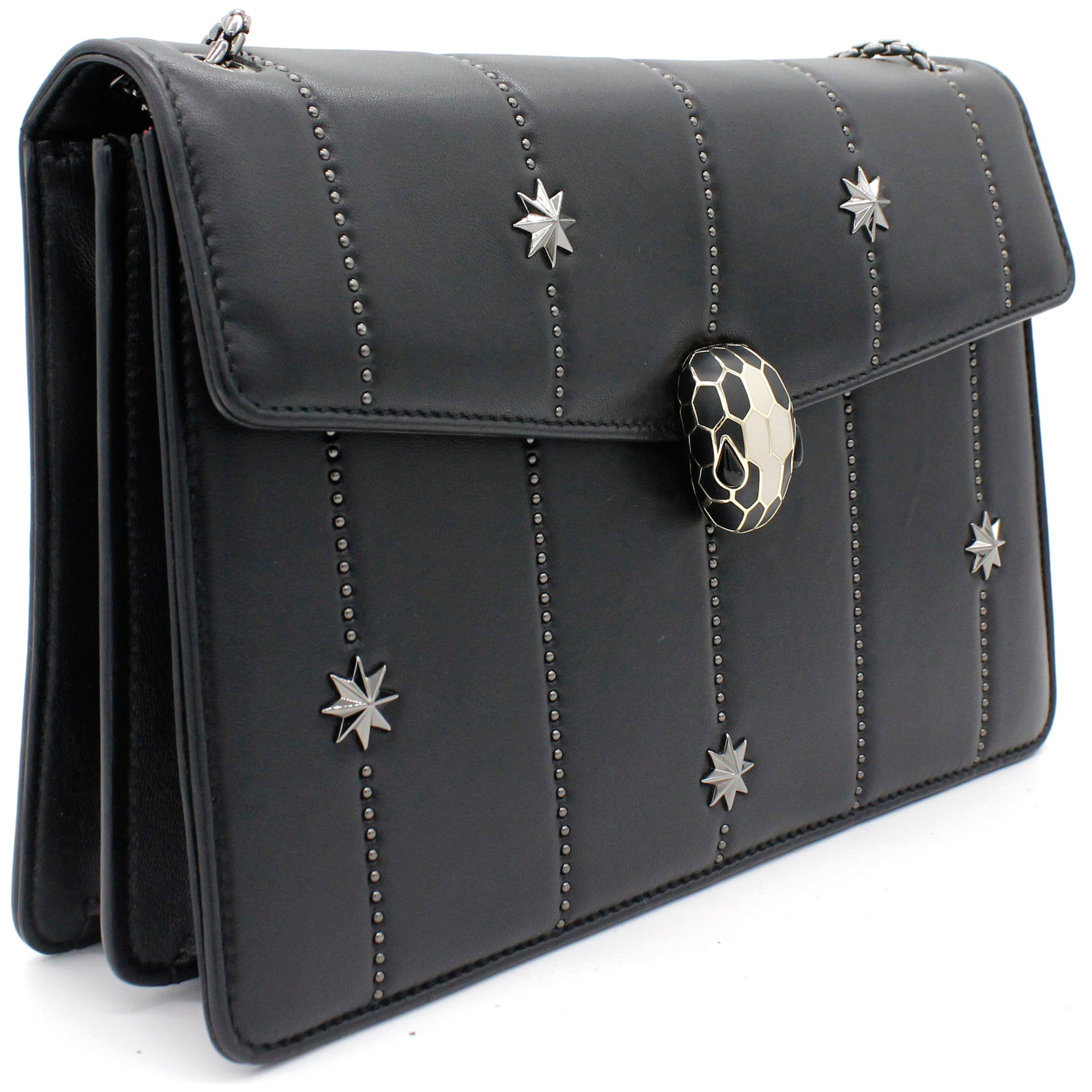 Serpenti Forever Shoulder Bag Stars Embellishments
