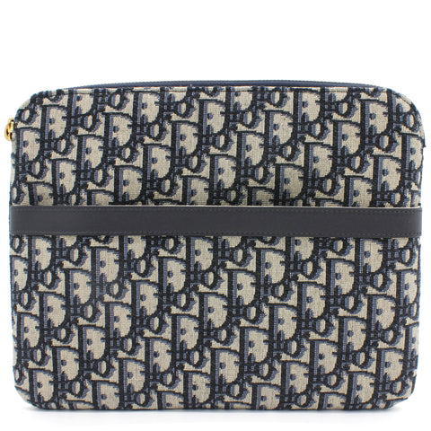 Travel Kit Blue Dior Oblique Jacquard