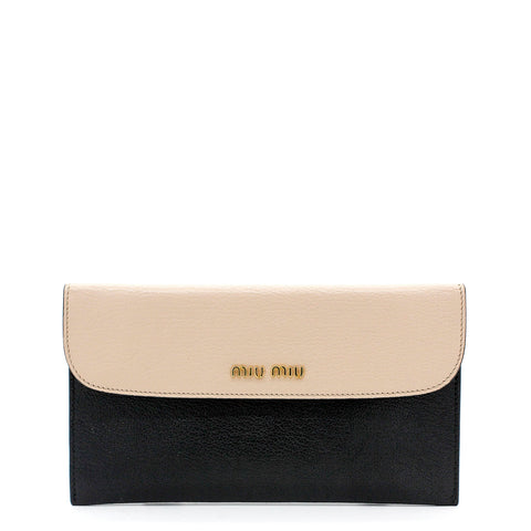 Beige and Black Pouch Wallet