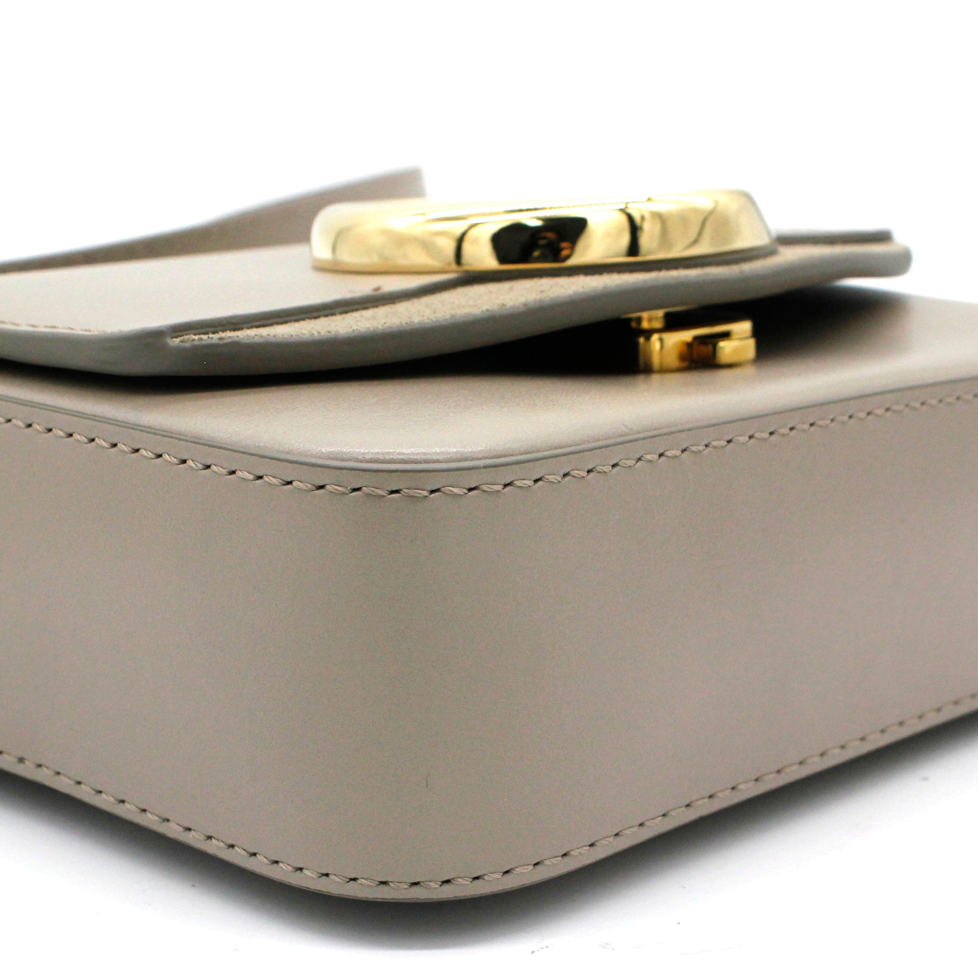 C Mini bag in shiny & suede calfskin