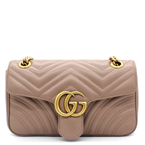 GG Marmont matelassé shoulder bag Dust Pink