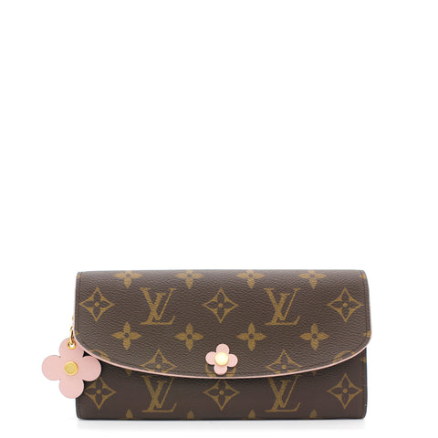 Monogram Bloom Flower Emilie Wallet