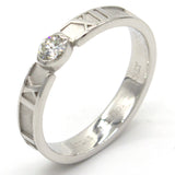 Atlas 0.12 CTW Diamond 18K White Gold Band Ring