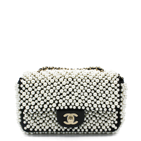 Pearly Mini Classic Flap Bag