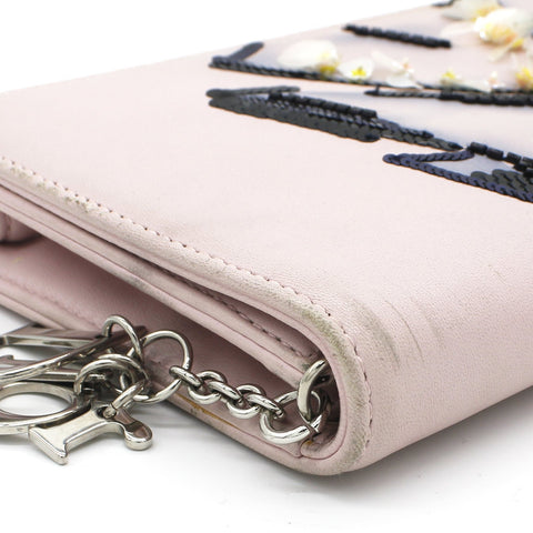 Sequins-embellished Wallet on Chain