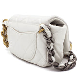 Lambskin Quilted 19 Waist Bag White