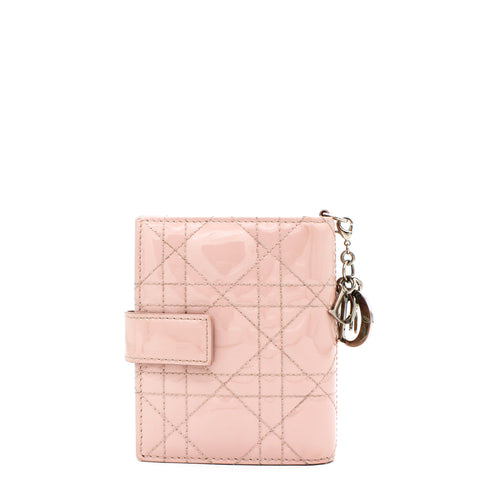 Pink Patent Compact Wallet