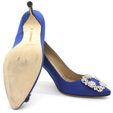 royal blue Hangisi 105 satin pumps